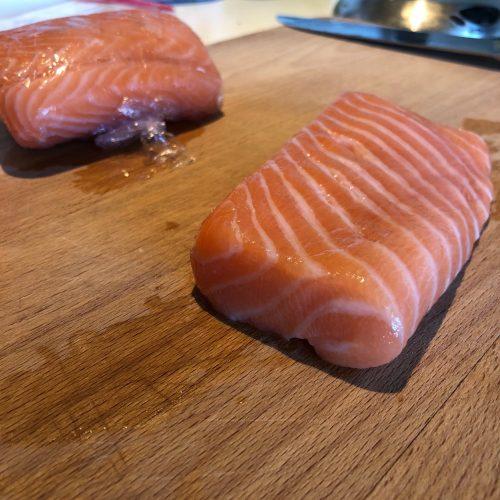 sushi laks til Poke Bowl