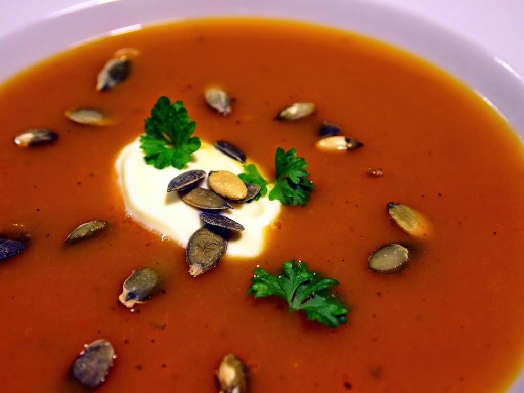 Suppe med butternut og ingefær