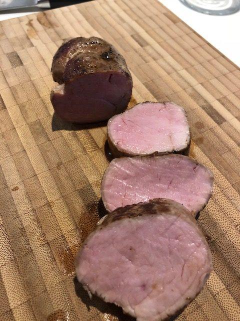 Perfekt tilberedt svinemørbrad